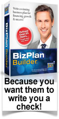 Write a business plan with BizPlanBuilder software template